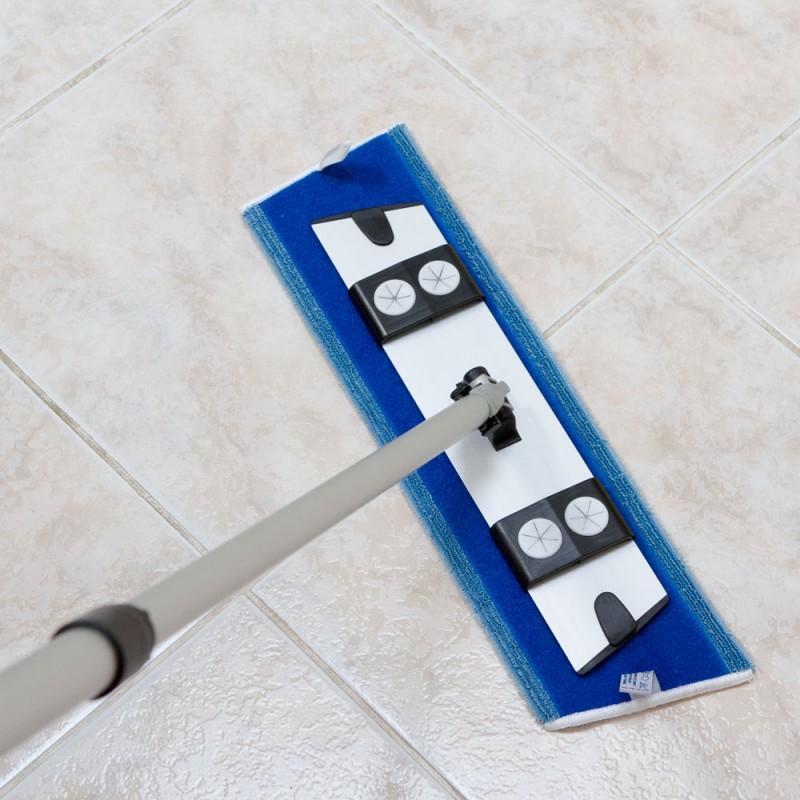 Coffret balai et mop bleu sp cial nettoyage humide des sols ecobiodil - Balai nettoyage plafond ...
